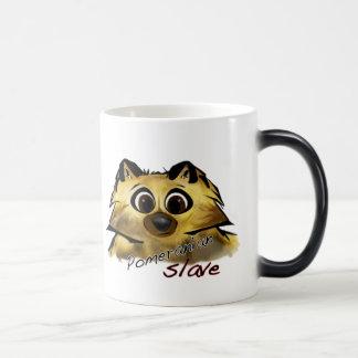Esclavo de Pomeranian Tazas De Café