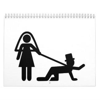 Esclavo del boda de la despedida de soltero calendarios
