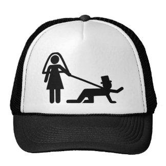 Esclavo del boda de la despedida de soltero gorras