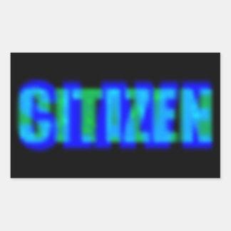 Esclavo del ciudadano pegatina rectangular