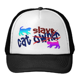 Esclavo del dueño del gato gorras de camionero