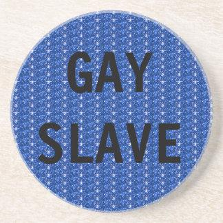 Esclavo del gay del práctico de costa posavasos de arenisca
