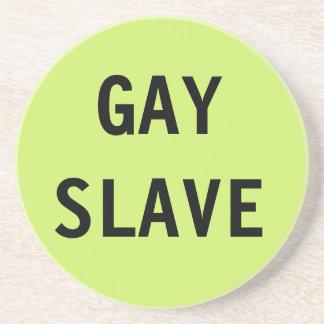 Esclavo del gay del práctico de costa posavasos para bebidas