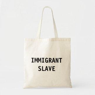 Esclavo del inmigrante del bolso bolsas de mano