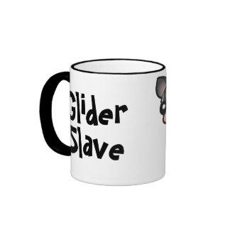 Esclavo del planeador tazas de café