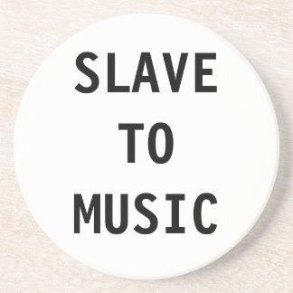 Esclavo del práctico de costa a la música posavasos manualidades