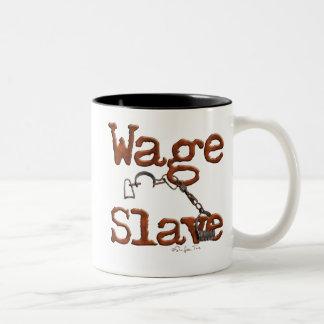 Esclavo del salario tazas