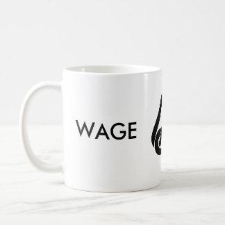 Esclavo del salario tazas de café