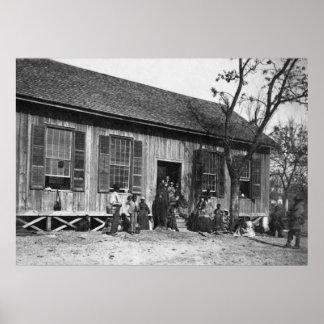 Esclavos anteriores en Carolina del Sur, 1860s Póster