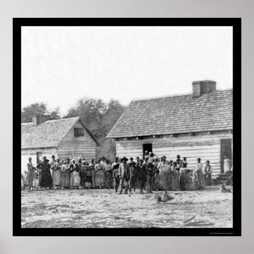 Esclavos en la plantación de Smith en Beaufort, SC Posters