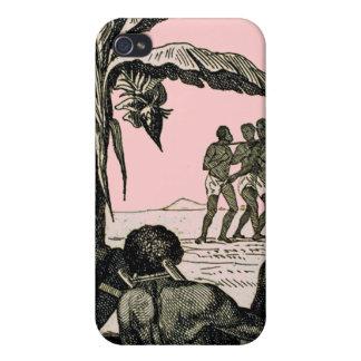 Esclavos en orilla iPhone 4 carcasa