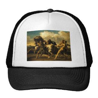 Esclavos que paran un caballo, estudio para la gorros bordados