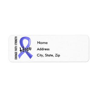 Escleroderma de la esperanza 5 de la fe del valor etiqueta de remitente