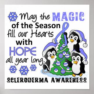 Escleroderma de los pingüinos del navidad poster