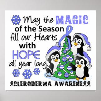 Escleroderma de los pingüinos del navidad impresiones