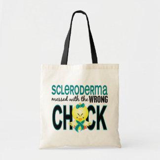 Escleroderma ensuciado con el polluelo incorrecto bolsa tela barata