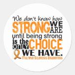 Esclerosis múltiple cómo es fuerte somos pegatina redonda