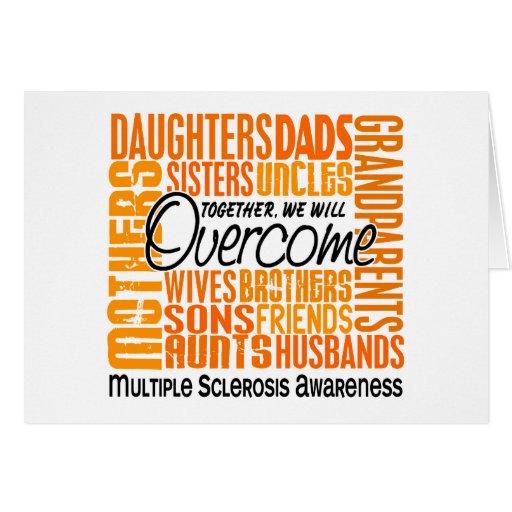 Esclerosis múltiple cuadrada de la familia tarjeta de felicitación