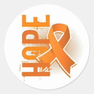 Esclerosis múltiple de la esperanza 2 pegatina redonda