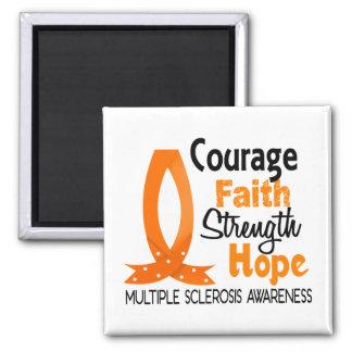 Esclerosis múltiple de la esperanza de la fuerza d iman de nevera