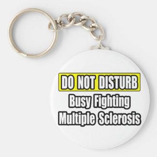 Esclerosis múltiple de la lucha ocupada llavero