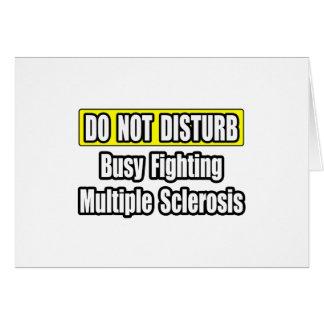Esclerosis múltiple de la lucha ocupada tarjetón