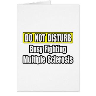 Esclerosis múltiple de la lucha ocupada tarjeton