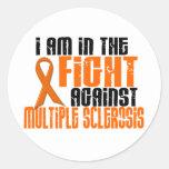 Esclerosis múltiple del ms EN la LUCHA 1 Pegatina Redonda
