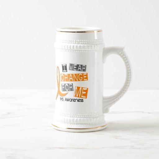 Esclerosis múltiple del ms llevo el naranja para jarra de cerveza
