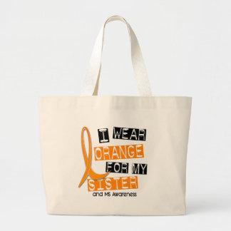 Esclerosis múltiple del ms llevo el naranja para m bolsa tela grande