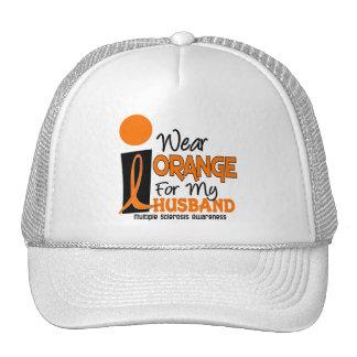 Esclerosis múltiple del ms llevo el naranja para m gorras de camionero