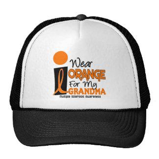 Esclerosis múltiple del ms llevo el naranja para m gorra
