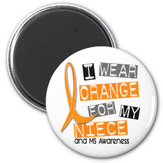 Esclerosis múltiple del ms llevo el naranja para m imán de frigorifico