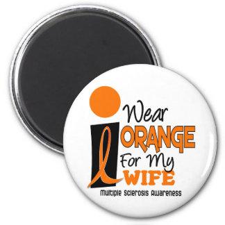 Esclerosis múltiple del ms llevo el naranja para m imán redondo 5 cm