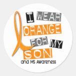 Esclerosis múltiple del ms llevo el naranja para m pegatina