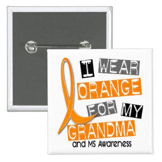 Esclerosis múltiple del ms llevo el naranja para m pin