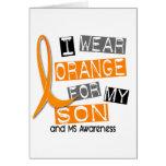 Esclerosis múltiple del ms llevo el naranja para m felicitación