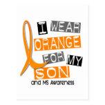 Esclerosis múltiple del ms llevo el naranja para m postales