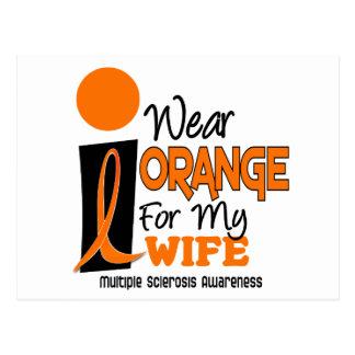 Esclerosis múltiple del ms llevo el naranja para m postal