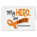 Esclerosis múltiple del ms MI HÉROE MI SOBRINA 42 Tarjeta
