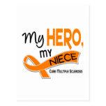 Esclerosis múltiple del ms MI HÉROE MI SOBRINA 42 Tarjeta Postal