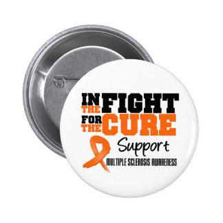 Esclerosis múltiple en la lucha para la curación pin redondo de 2 pulgadas