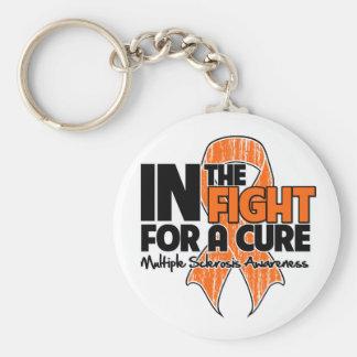 Esclerosis múltiple en la lucha para una curación llavero personalizado