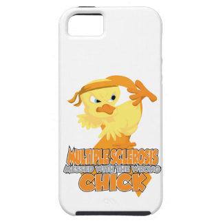 Esclerosis múltiple ensuciada con el polluelo iPhone 5 funda