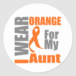 Esclerosis múltiple llevo a la tía anaranjada de pegatina redonda