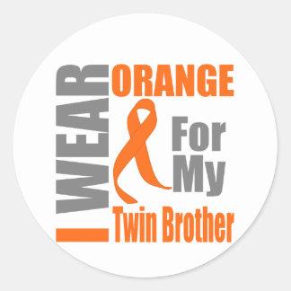 Esclerosis múltiple llevo Brother gemelo Pegatina Redonda