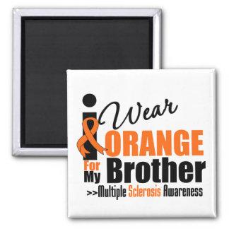 Esclerosis múltiple llevo el naranja para mi Broth Iman Para Frigorífico
