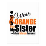 Esclerosis múltiple llevo el naranja para mi herma tarjeta postal