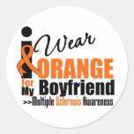 Esclerosis múltiple llevo el naranja para mi novio pegatinas