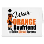 Esclerosis múltiple llevo el naranja para mi novio tarjeton